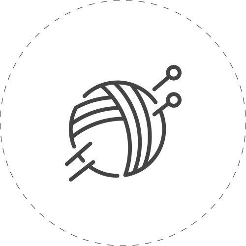 Sticka en mössa, babyfilt, kofta, sittpuff och vantar. Har du restgarn? Sticka små projekt! Vill du sticka efter mönster? Oavsett om du är nybörjare eller inte, länkar vi till beskrivning om det finns!