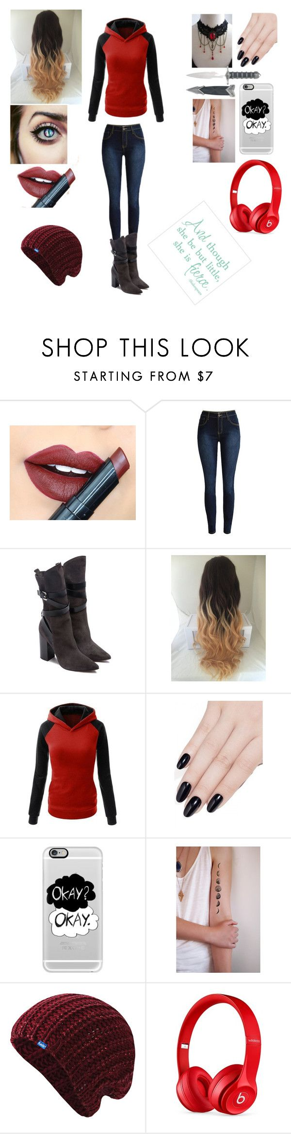 """""""Underfell"""" by frisk-chara ❤ liked on Polyvore featuring Fiebiger, COSTUME NATIONAL, ncLA, Casetify, Keds and Beats by Dr. Dre"""