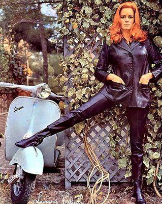 Fiona Volpe (Luciana Paluzzi) Thunderball  1965 . Scooter girl . 1960s fashion