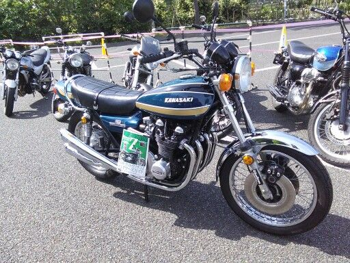 The simbol of 1970's Japanese motorcycles.