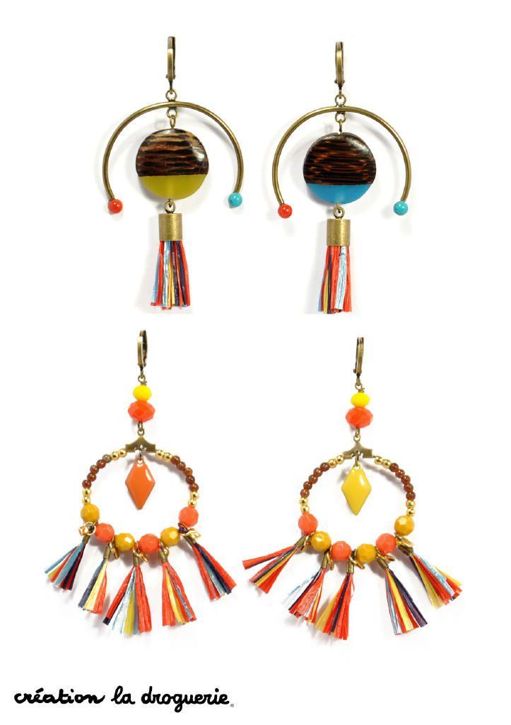 On aimes ces BO aux allures ethniques ! #ladroguerie #bijoux #bo