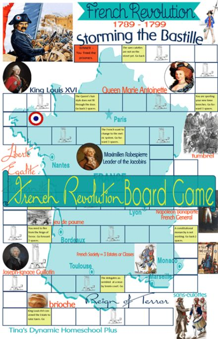 Free {Storming the Bastille} French Revolution Game + game cards    #frenchrevolution  #homeschool  #ihsnet