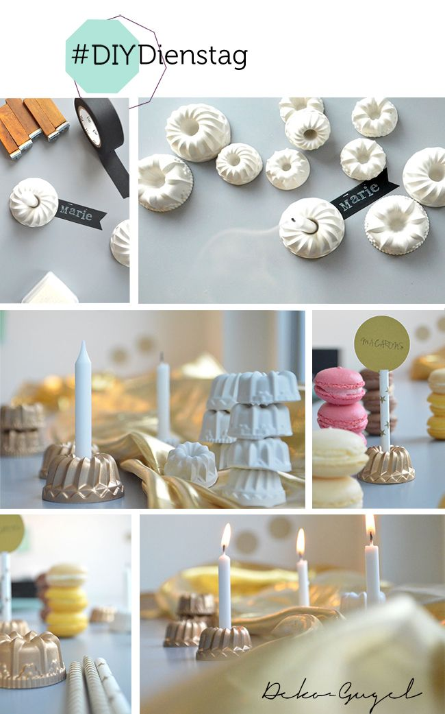 Namensschilder mit Mini-Gugel | Hochzeitsblog