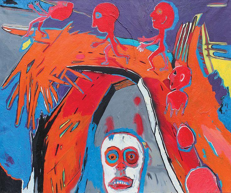Blindness  120x100 cm oil on canvas