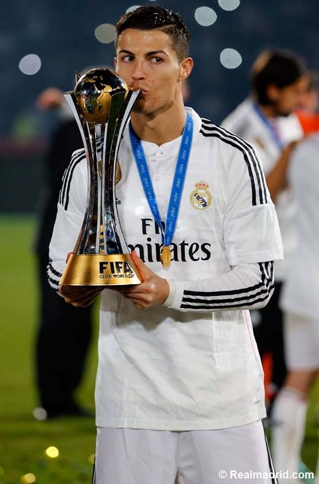 Christiano Ronaldo ...Club World Cup celebration on the Grand Stade de Marrakech pitch #HalaMadrid