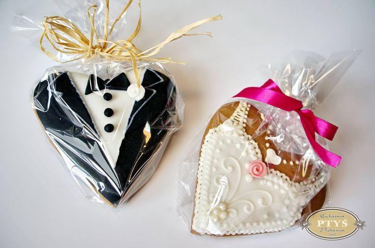 Pani i Pan Młody na weselnym pierniczku:)
