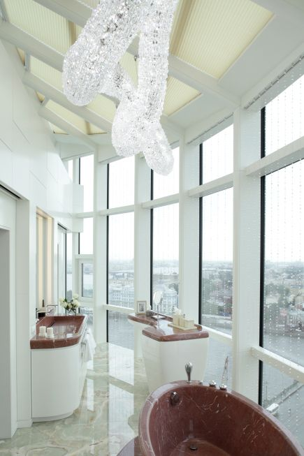 German architects nps tchoban voss have designed an apartment in saint petersburg russia