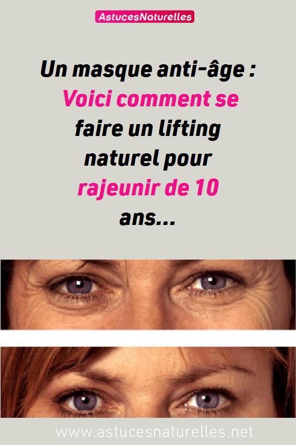 masque visage femme anti age