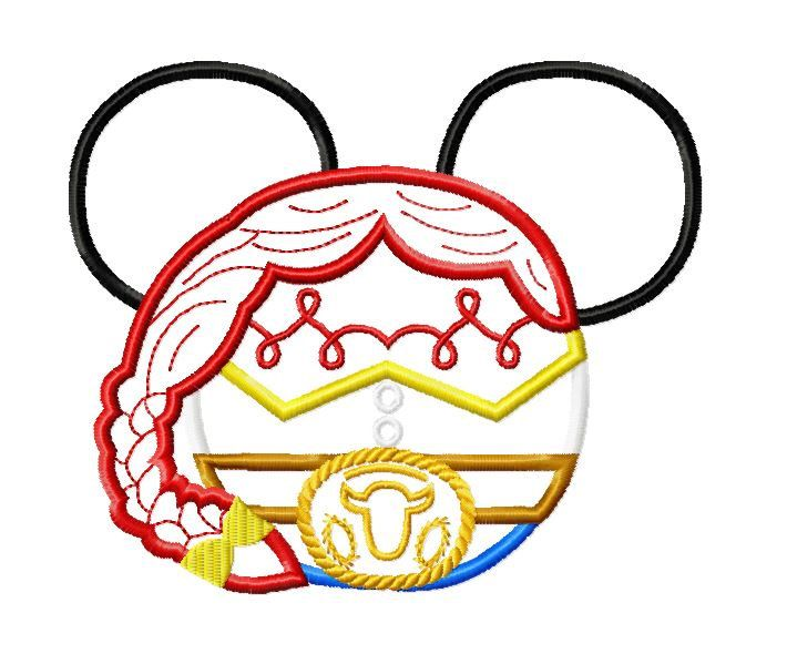 Character Applique Design : Best images about mickey heads on pinterest