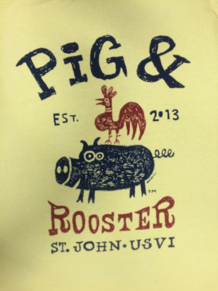 Pig & Rooster by Big Hed