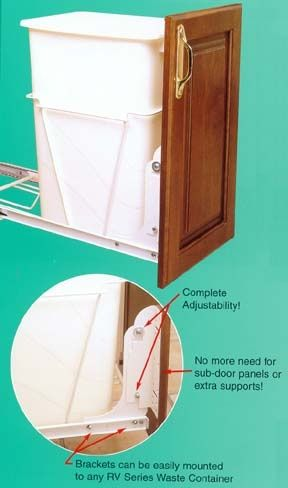 Pull out drawer kit for the kitchen waste basket.. I want this..ASAP