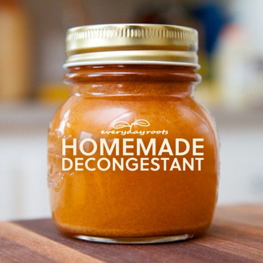 Homemade Natural Spicy Cider Decongestant and Expectorant - 1/4 -½ teaspoon of cayenne pepper - 1/4 - ½ teaspoon of powdered ginger - 3 tablespoons of all natural organic honey - 1/4 cup of lemon juice - 1/4 cup of apple cider vinegar