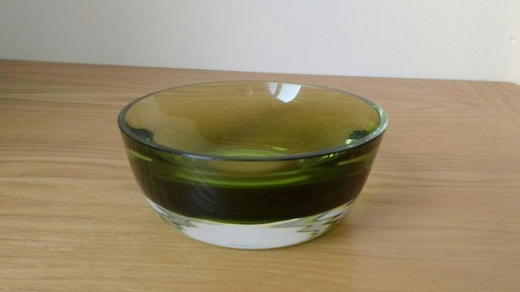 CAITHNESS GLASS SMALL STROMA BOWL IN MOSS..COLIN TERRIS  | Pottery, Porcelain & Glass, Glass, Art Glass | eBay!