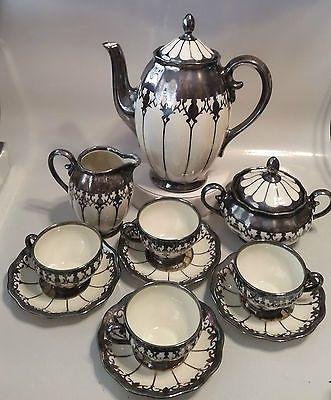 Pinterest: @MagicAndCats ☾ KOENIGSZELT TEA SET - TEA POT, CREAMER, SUGAR, 4 CUPS & SAUCERS - GERMANY