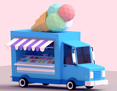 "Check out new work on my @Behance portfolio: ""Low-Poly Ice Cream Car"" http://be.net/gallery/34335229/Low-Poly-Ice-Cream-Car"