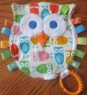 CUTE - owl taggy chew toy