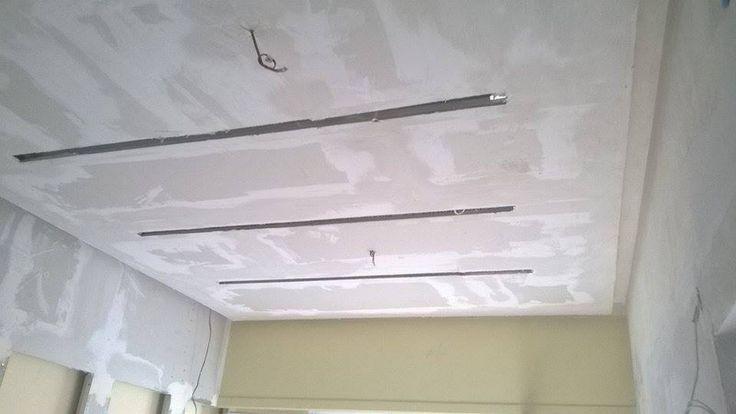 Γυψοσανίδες οροφής στην καφετερία