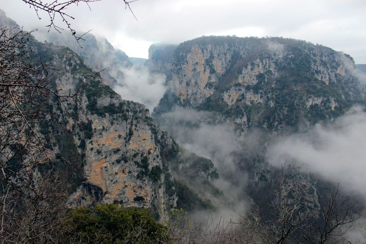 Vikos Canyon from monastery of Agia Paraskevi