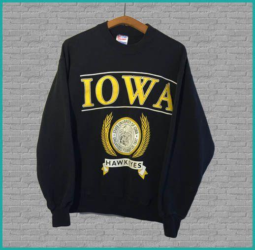 Vintage University of Iowa Hawkeyes Crewneck Sweatshirt