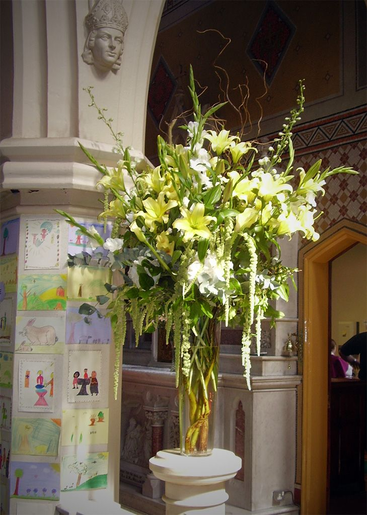 204 best church wedding decorations images on pinterest flower church wedding decorations altar flowers spray junglespirit Image collections