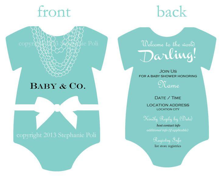 Customized Breakfast at Tiffanys Baby Shower Invitation For Girls (Printable). $12.00, via Etsy.