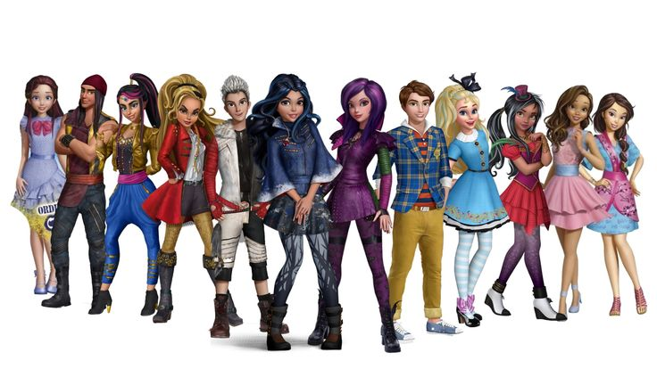 disney's descendants characters - 736×414