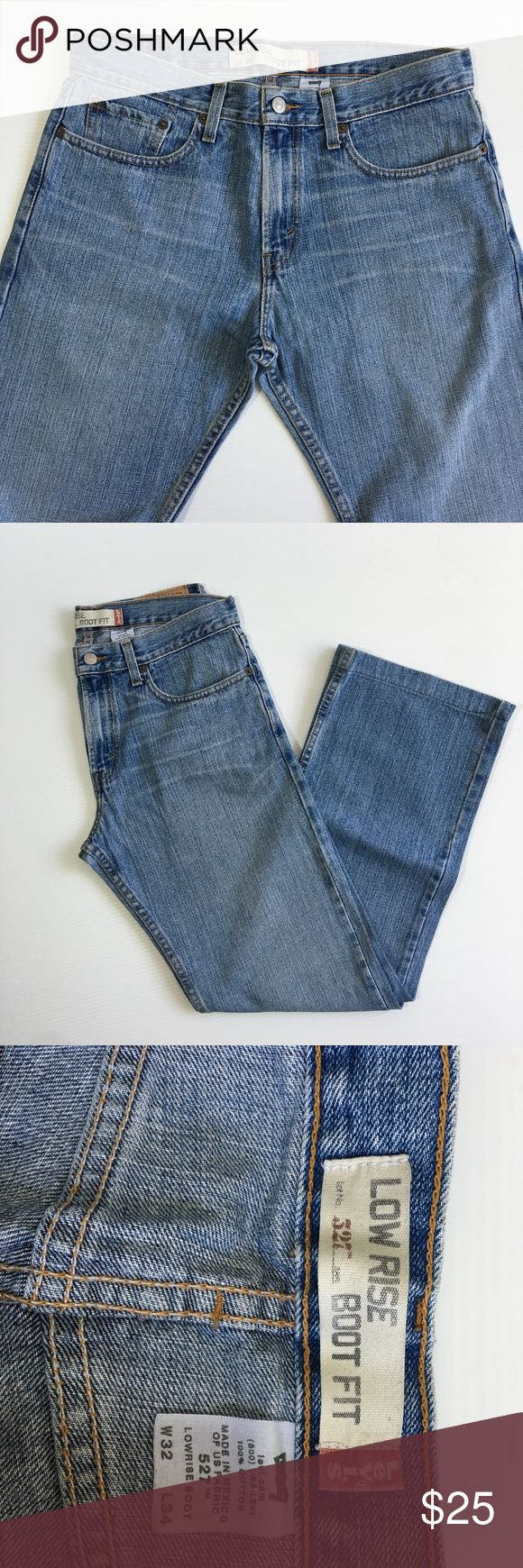 LEVIS 527 LOW RISE BOOT FIT BLUE JEAN SIZE 32 LEVIS 527  LOW RISE BOOT FIT  BLUE JEAN  SIZE 32X34 THE LENGHT HAS BEEN PROFESSIONALLY HAND CRAFTED TO 32 INCHES (HEM), SO IT IS 32x32 DESPITE THE LABEL SAYS 32x34. Levi's Jeans Bootcut
