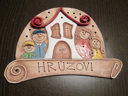keramická cedulka - jmenovka - rodinka / Zboží prodejce monikasimi | Fler.cz