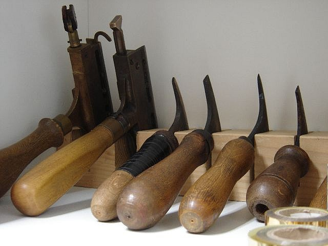 Book binding tools by Rijksmuseum Research Library, via Flickr