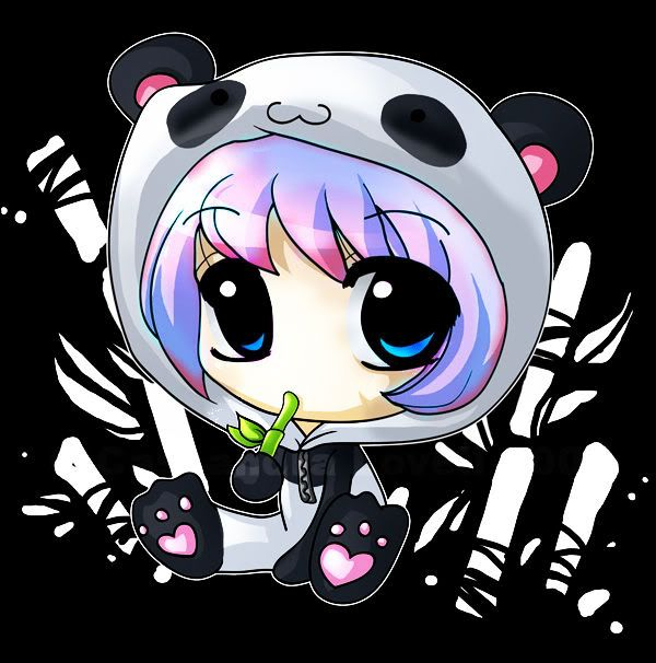 Chibi Animal Girls: Chibi Panda Girls