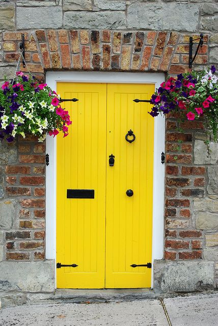 """Authenticity is the daily practice of letting go of who we think we're supposed to be and embracing who we are."" - Brene Brown; Yellow Cottage door (Glaslough, Ireland)"