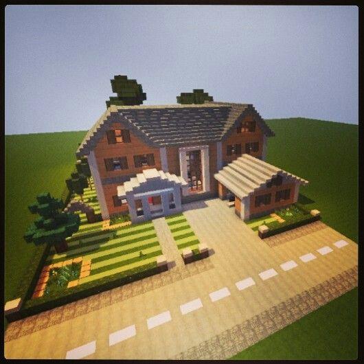 Minecraft suburban mansion