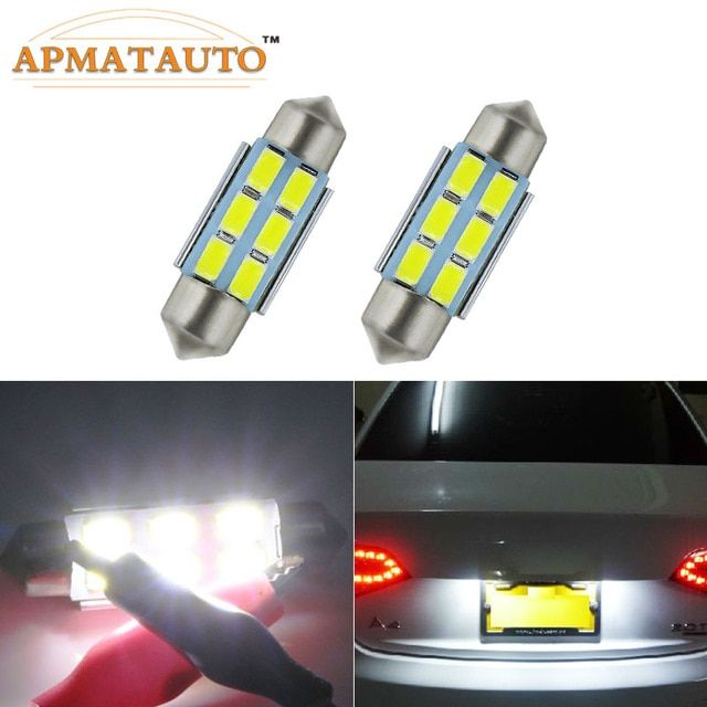 2X MOTORCYCLE MOTORBIKE LICENSE NUMBER PLATE LIGHT LED Clearance