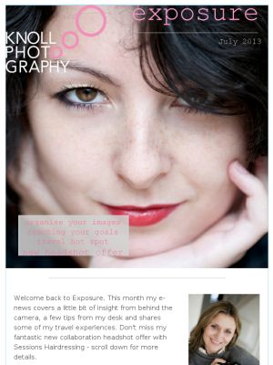 Check out this month's issue of Exposure magazine for great tips and offers. Don't miss out on our new headshot offer in collaboration with Sessions Hairdressing. http://mad.ly/5535e3