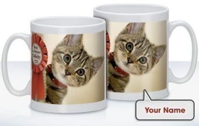 Personalised Best Owner Mug - If you know a great cat owner, treat them to their very own mug! #PersonalisedGifts #CatGifts #BestOwner #Cats #Animals £10.99