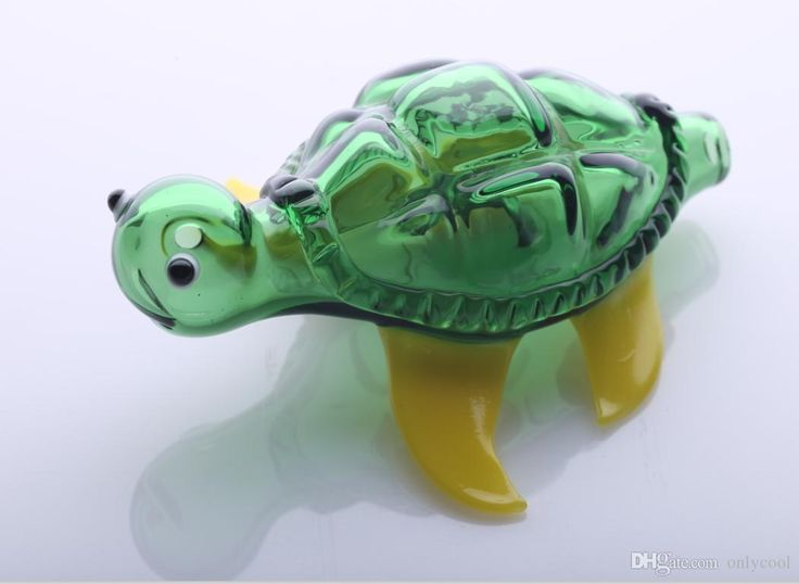 Зеленые Черепахи Мода Стеклянные Трубы Новинка Стеклянные Курительная Трубка Животных Стеклянные