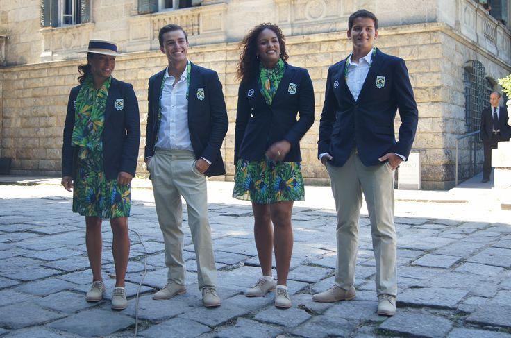 Flora, fauna, azul, verde... Rio 2016 apresenta uniformes de cerimônia #globoesporte