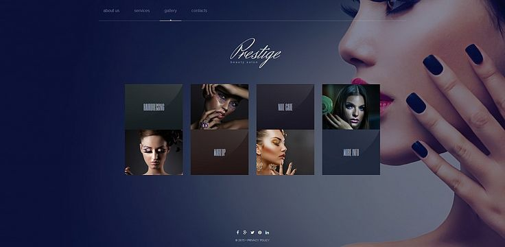 Beauty #Portfolio Web Theme - for #beauty #salons, for #photographers. Any #artists will find it a pleasure to work with the MotoCMS 3 admin panel.