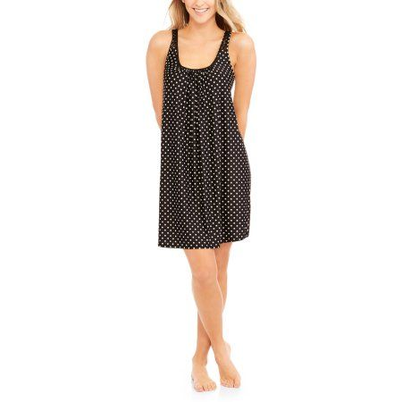 Secret Treasures Women's Chemise Sleep Gown, Size: Small, Black