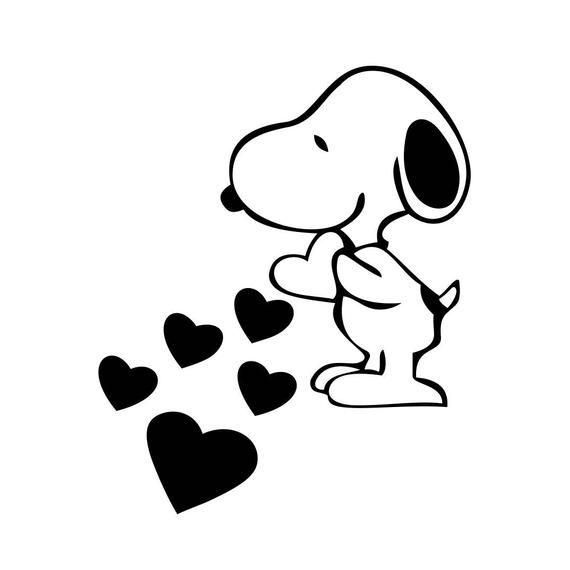 Snoopy Love Hearts Graphics Svg Dxf Eps Png Cdr Ai Pdf Vector Etsy In 2020 Snoopy Love Heart Graphics Snoopy Pictures
