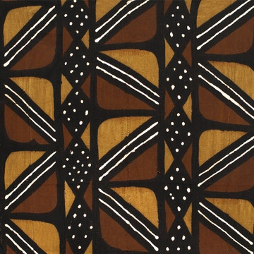 Mud Cloth by Textiles of Africa Also called a bògòlanfini, the African mud cloth is a one-of-a-kind fabric painting. This textile was handmade in Mali by artisans of the Bamana Tribe using ancient, traditional techniques and natural materials like tree bark, leaves and river mud for dye.