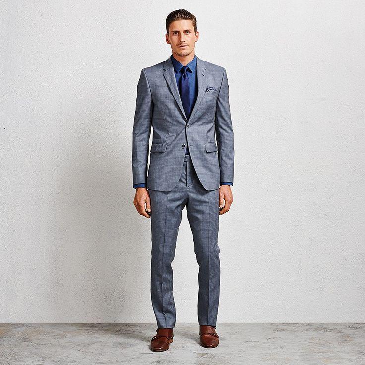 Hardman Denim Suit #suit #suitblazer #suitpant #aquila