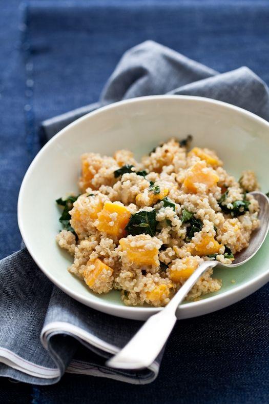 Quinoa, Butternut Squash & Kale Salad: Butternut Squash, Health Food, Squash Kale, Kale Salads, Squash Salad, Quinoa, Squashes, Healthy Food