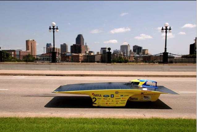 Solar Powered Car. Built by the University of Michigan using Precision Board for the molds.