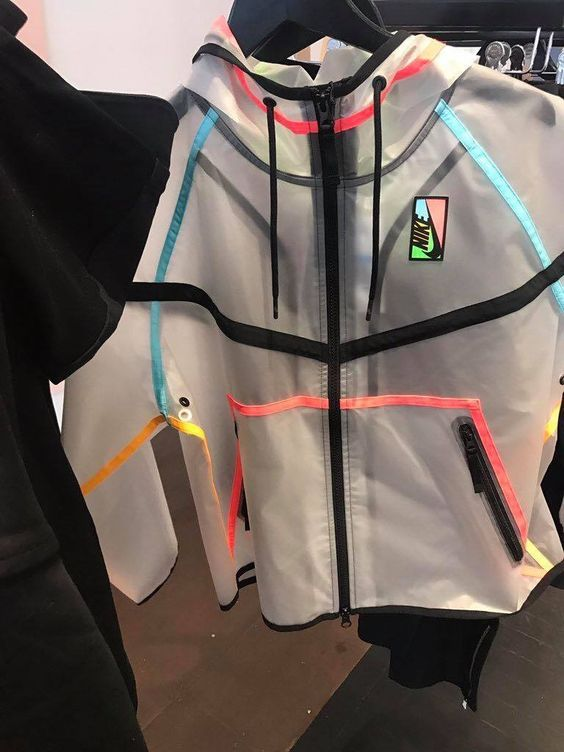111d976b5 Clear see-through Nike windbreaker jacket hoodie | Clothes You Can ...