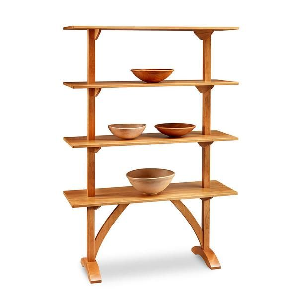Arched Shaker Display Shelf In Cherry Chilton Furniture