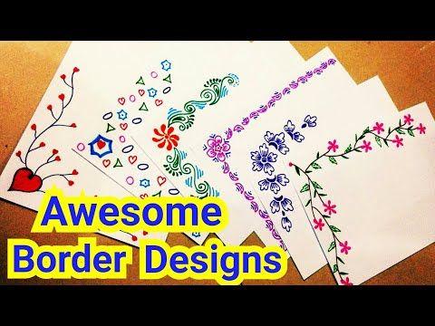 6 Border Designs Border Designs On Paper Project Designs