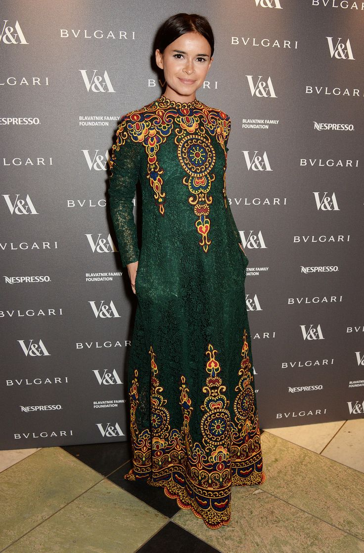 Miroslava Duma at the Victoria and Albert Museum's Glamour of Italian Fashion dinner.