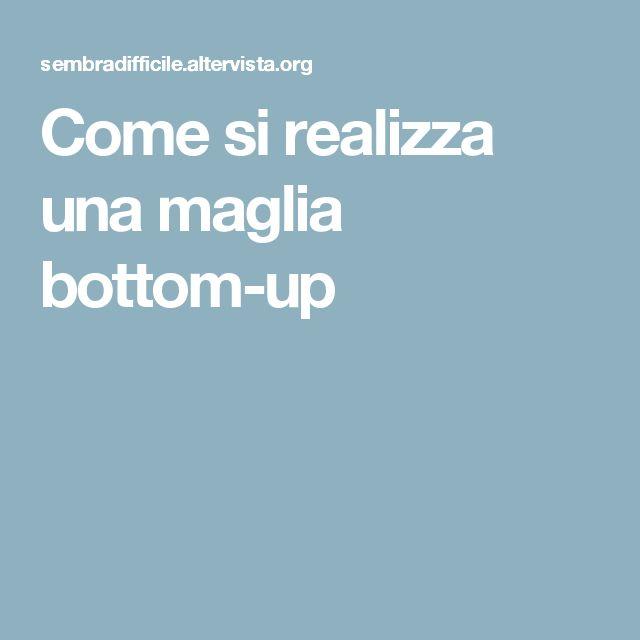 Come si realizza una maglia bottom-up