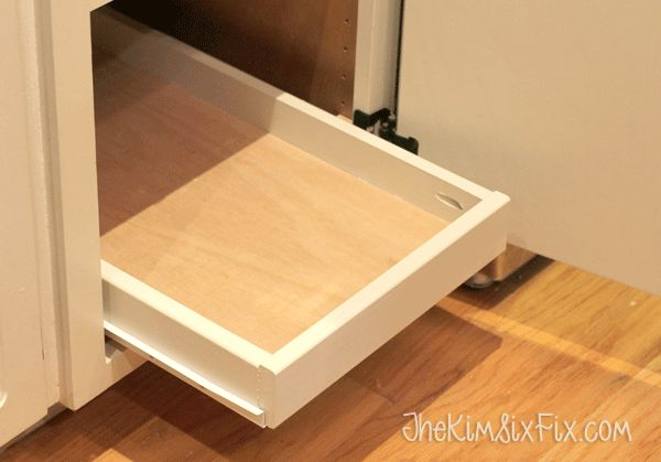 Organize Your Pantry with DIY Slide-Out Cabinet Shelves - The Kim Six Fix